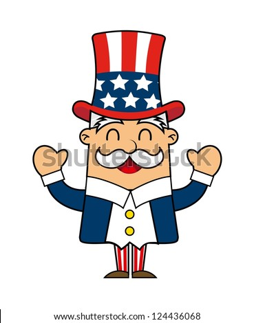 uncle sam cartoon isolated over white stock vector 124436068 rh shutterstock com Vintage Patriotic Thanksgiving Clip Art Vintage Patriotic Thanksgiving Clip Art