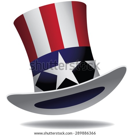Uncle Sam Hat. EPS 10 vector. - stock vector
