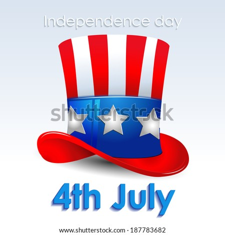 Uncle Sam hat: Independence day vector illustration