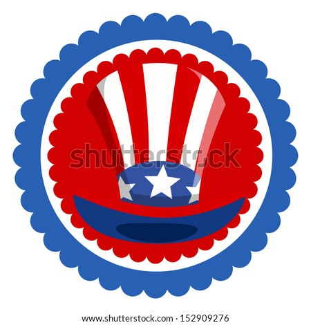 Uncle Sam Hat - 4th of july Vector - stock vector