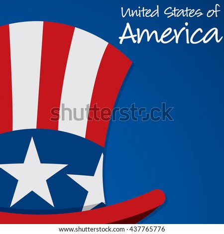 Uncle Sam hat United States of America card in vector format. - stock vector