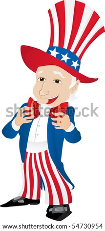 Uncle Sam United States of America. Editable Vector Illustration - stock vector