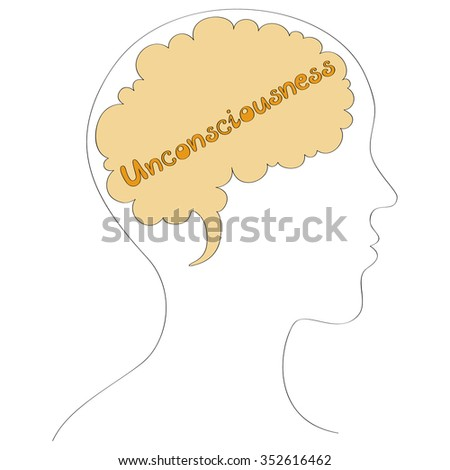 Unconsciousness vector background  - stock vector