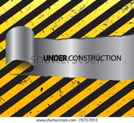 Under Construction Tape Background Vector Illustra...