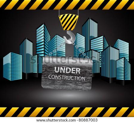 Under construction background-vector - stock vector