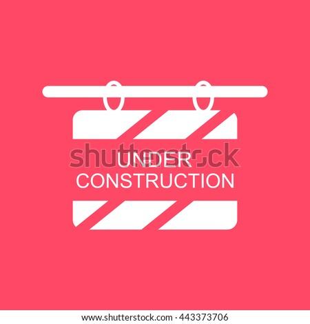 Under Construction Board Icon. Eps-10. - stock vector