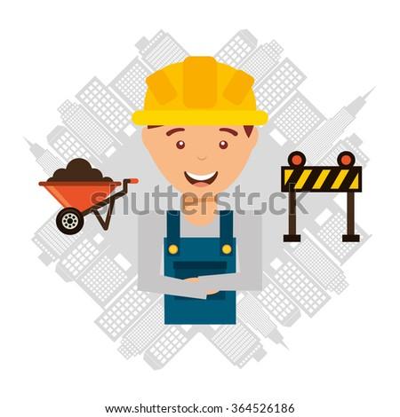 under construction design  - stock vector