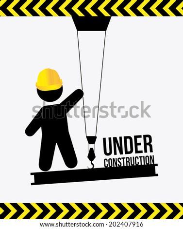 under construction design over white background vector illustration - stock vector