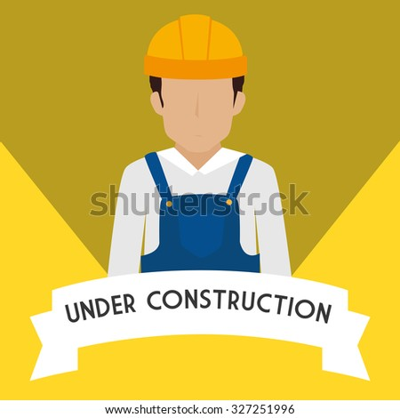 under construction design, vector illustration eps10 graphic