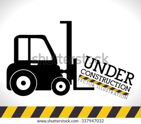 Under construction graphic advertising, vector illustration desgin