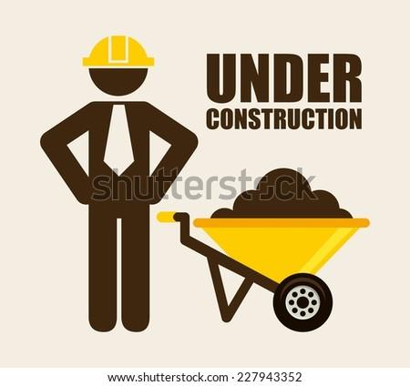 under construction graphic design , vector illustration - stock vector