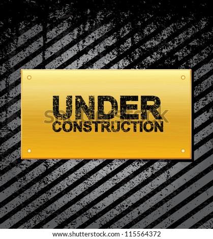 Under construction - grungy design vector illustration. eps10 - stock vector