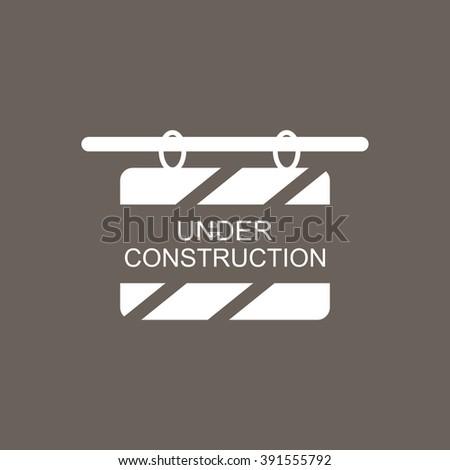 Under Construction Icon on Dark Gray Color. Eps-10. - stock vector
