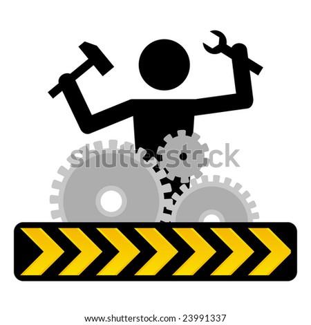under construction icon / symbol - stock vector
