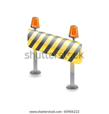 Under construction object. Vector - stock vector