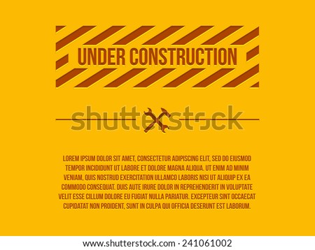 Under construction sign, vector - stock vector
