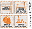 Under construction sticker set - stock photo