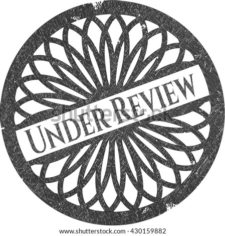 Under Review drawn with pencil strokes - stock vector