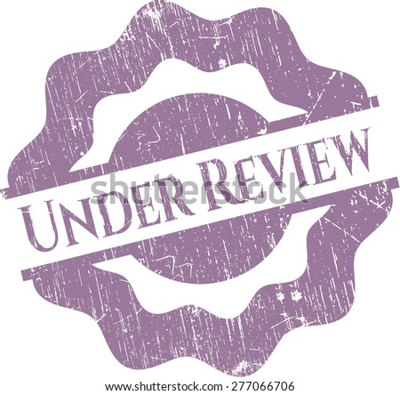 Under review rubber grunge stamp - stock vector