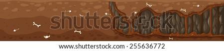 underground scene - stock vector