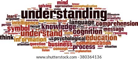Understanding word cloud concept. Vector illustration - stock vector