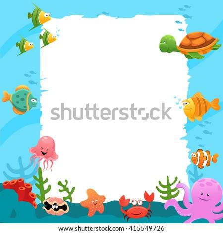 Underwater Billboard - stock vector