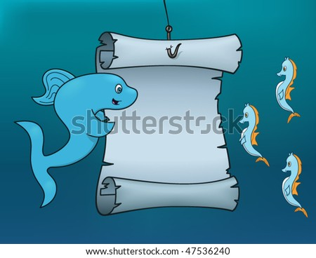 Underwater Proclamation - vector illustration - stock vector
