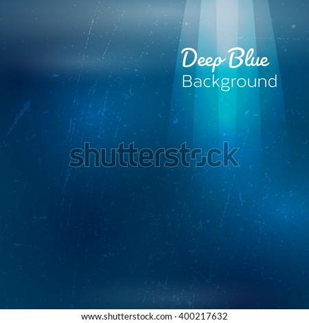 Underwater sunrays for aqua travel design. Vector illustration. - stock vector