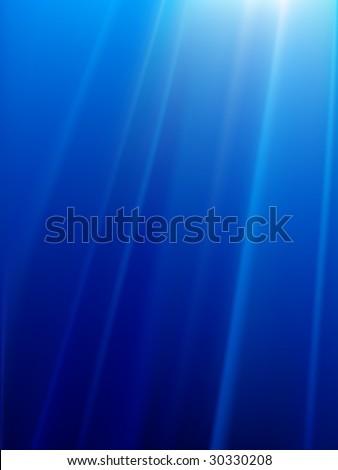 underwater vector lights - stock vector