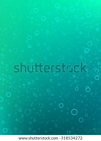 underwater vector scene - stock vector