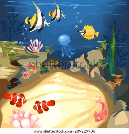 Underwater World - stock vector