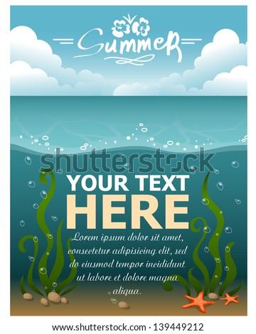 Underwater world. Vector illustration - stock vector