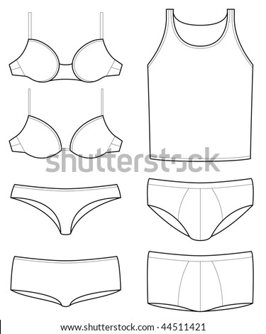 underwear templates - stock vector