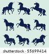 unicorn - stock vector