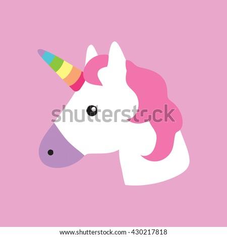 Unicorn Portrait Decor Kids Room Print Stock Vector HD (Royalty Free ...