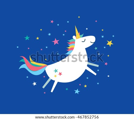 unicorn/ rainbow vector/illustration