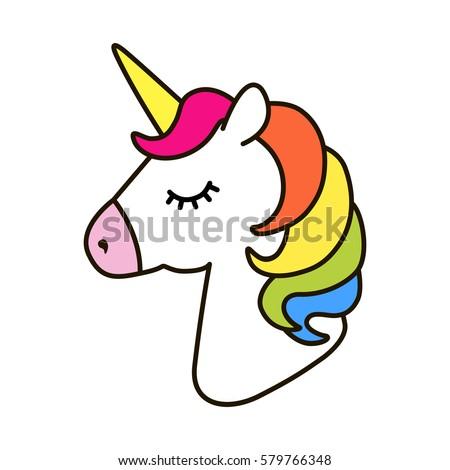 unicorn vector icon isolated on white stock vector hd royalty free 579766348 shutterstock - Unicorn Pics