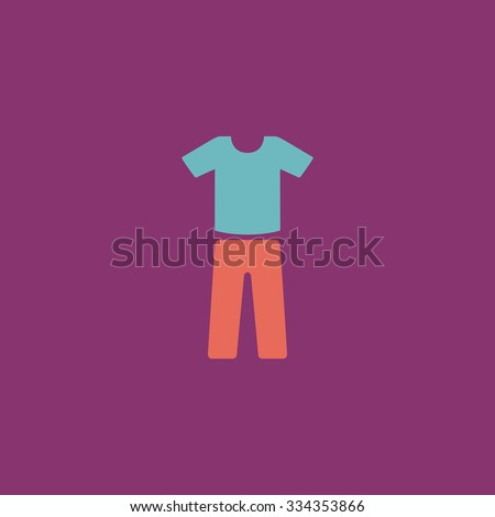 Uniform - pants and t-shirt. Colorful vector icon. Simple retro color modern illustration pictogram. Collection concept symbol for infographic project and logo - stock vector