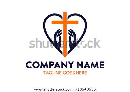unique church logo template stock vector 718540555 shutterstock