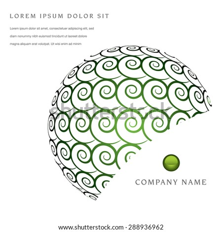 Unique clean swirl page layout for web or print - stock vector