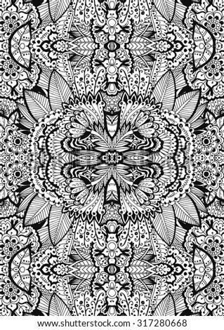 unique coloring book page for adults a4 floral authentic carpet design joy to older - Unique Coloring Books