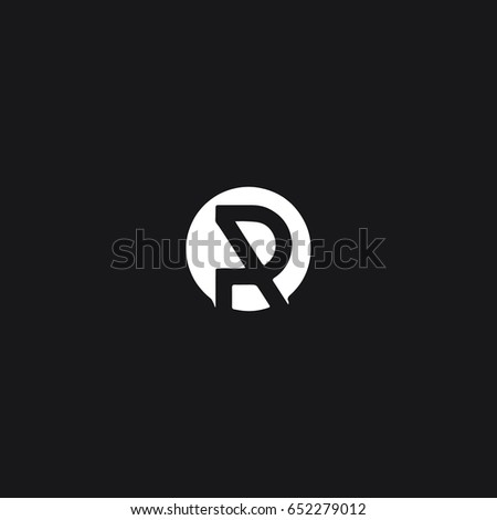 Unique modern creative stylish attractive rounded geometric artistic black  and white color R initial based letter. R Origami Logo R Letter Yellow Stock Vector 535468804   Shutterstock