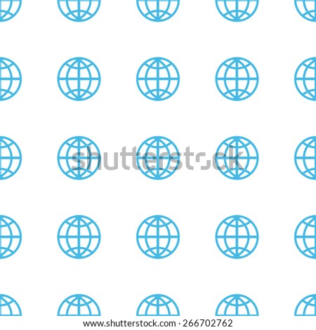 Unique World white and blue seamless pattern for web design. Vector symbol