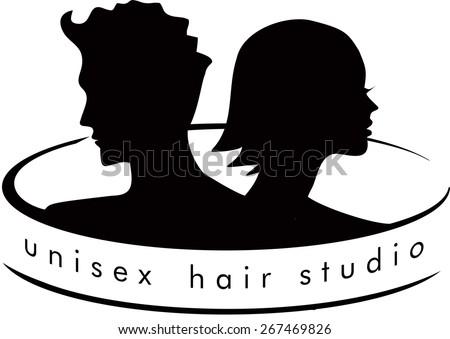 Unisex Hair salon - stock vector