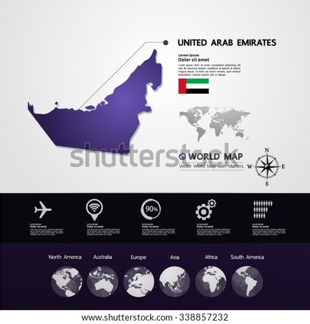 United Arab Emirates Map vector illustration - stock vector