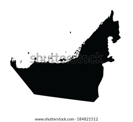 United Arab Emirates vector map isolated on white background. High detailed illustration. - stock vector