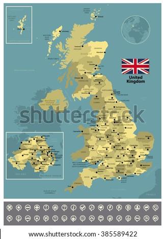United Kingdom - stock vector