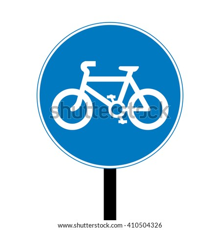 United Kingdom Bicycles Only Road Sign - stock vector