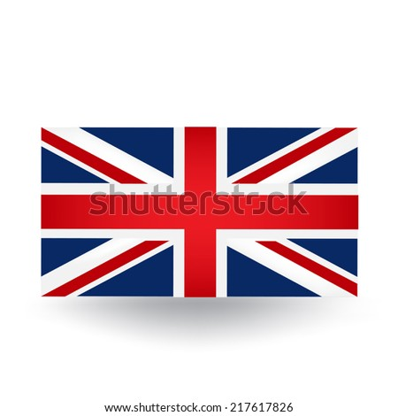 United Kingdom Flag - stock vector