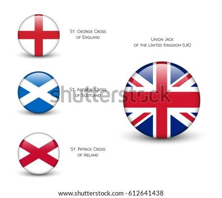 United Kingdom Flag England Scotland Ireland Vector de ...